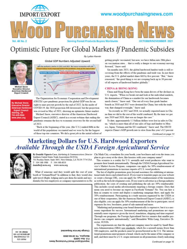 Import / Export Wood Purchasing News 1