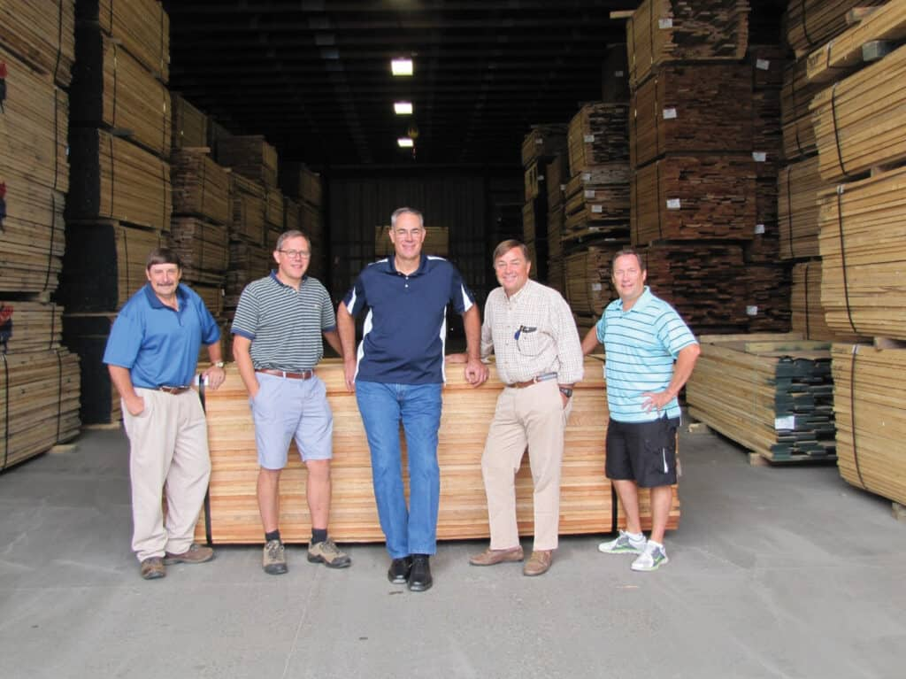 In sales are, left to right, Bruce Horner, Nils Dickmann, Greg Devine, Steven French and Eric Porter.