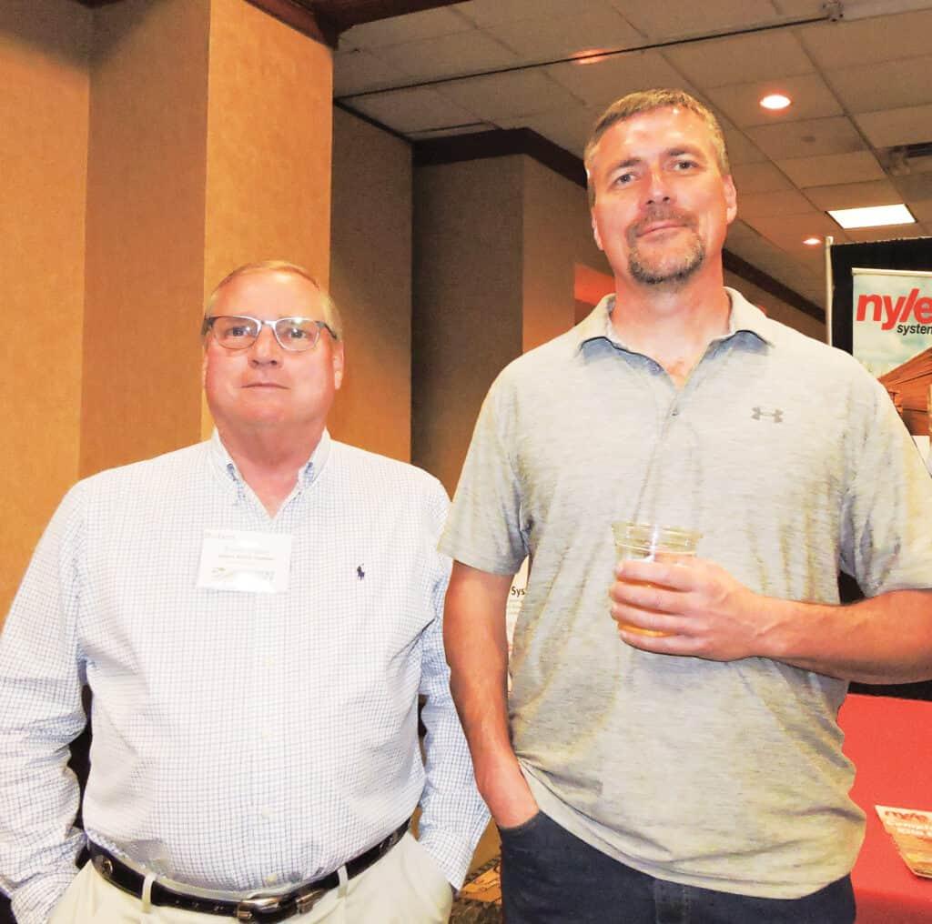 Robert Ousley, James Ritter Lumber Co., Summer Shade, KY; and Chris Calhoun, Pennsylvania Cherry LLC, Mercersburg, PA