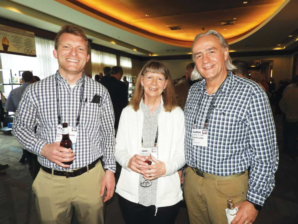 Tyler Kamps, Kamps Hardwoods Inc., Dutton, MI; and Anne and Grafton H. Cook, MO PAC Lumber Co., Fayette, MO
