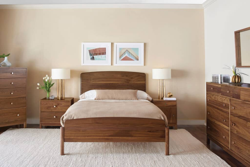 The Nicole bed is a new contemporary design manufactured by Gat Creek.