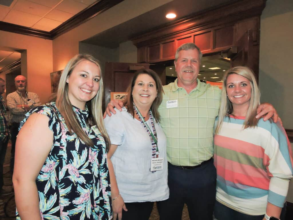 Heather Kerns, Michele Brewer, Robert Bauer, Executive Director, and Brittany Brewer, KFIA, Frankfort, KY