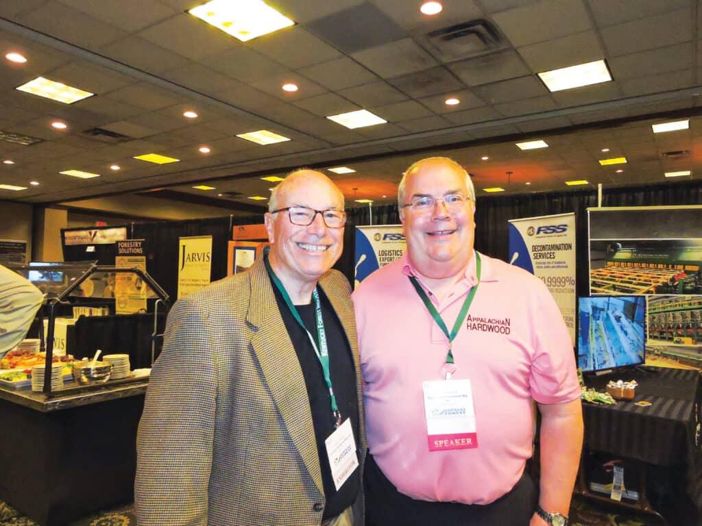 Paul Miller Jr., National Hardwood Magazine, Memphis, TN; and Tom Inman, Appalachian Hardwood Manufacturers Inc., High Point, NC