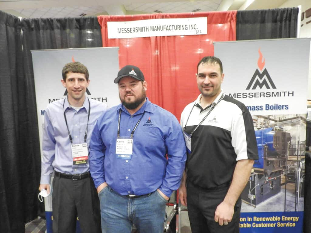 Kaleb Hollingsworth, Hollingsworth Lumber, Russiaville, IN; and Casey Allen and Jeremy Mortl, Messersmith Manufacturing Inc., Bark River, MI