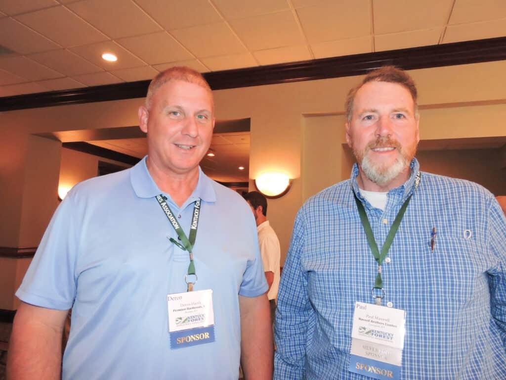 Deron Harris, Premium Hardwoods Inc., Bremen, KY; and Paul Maxwell, Maxwell Brothers Lumber Co., Lewisport, KY
