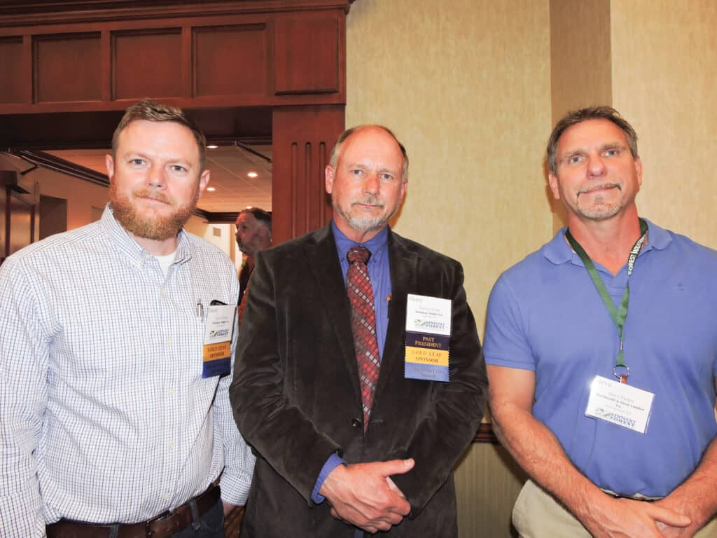 Gavin Christ and Henry Christ, Dunaway Timber Co. Inc., Fordsville, KY; and Steve Parker, MacDonald & Owen Lumber Co., Bowling Green, KY