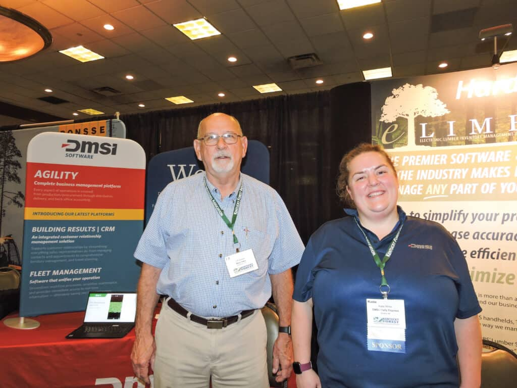J.R. Johns, Mitco Sales, Middleton, TN; and Katie White, DMSi Software/TallyExpress, Omaha, NE