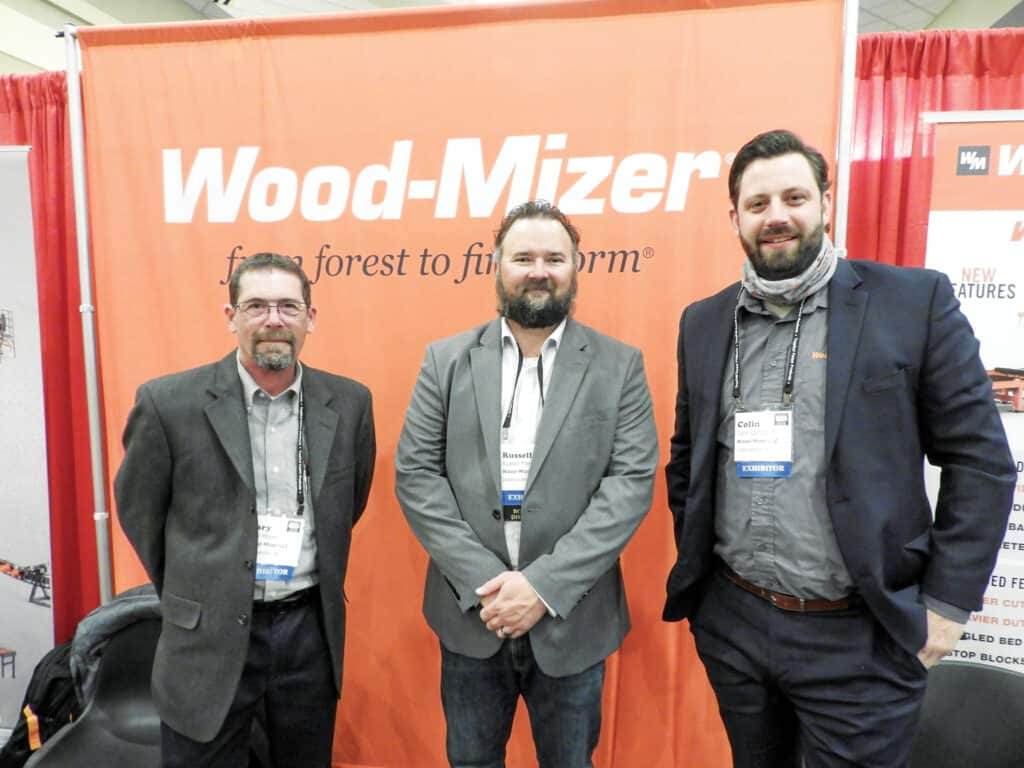 Gary Moore, Russell Fite and Colin Campbell, Wood-Mizer LLC, Indianapolis, IN