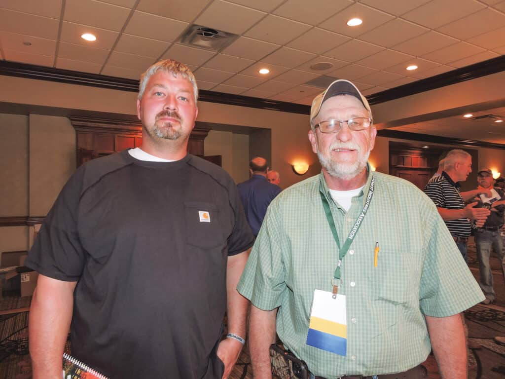Shane Middleton, Shane R Middleton Trucking LLC, Morehead, KY; and Barry Hamm, GreenTree Forest Products Inc., Wallingford, KY