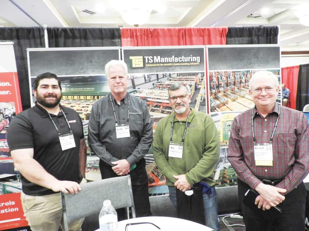 Joe Korac, Automation & Electronics USA LLC, Arden, NC; Geoff Gannon, TS Manufacturing, Lindsay, ON; Bob Shields, Bingaman & Son Lumber Inc., St. Marys, PA; and Russell Shamblen, Premier Hardwood Products/B&B Lumber Co. Inc., Jamesville, NY