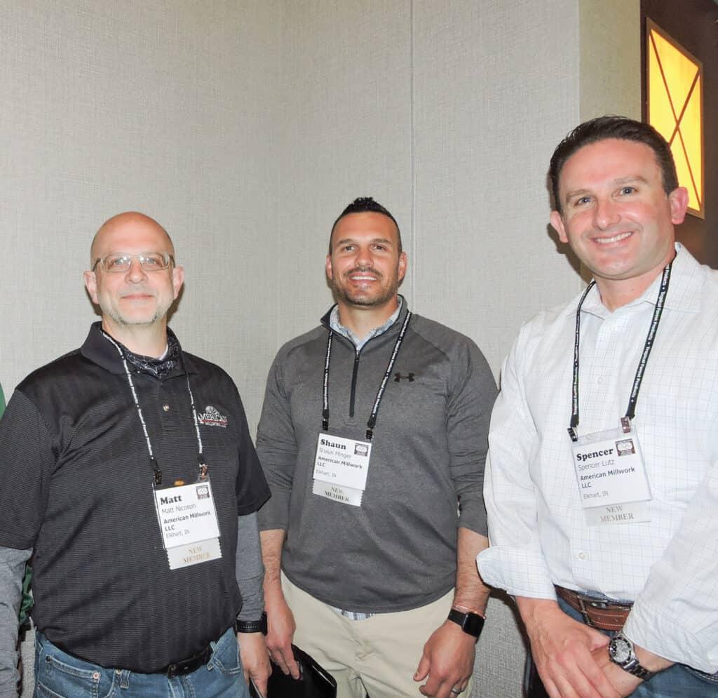 Matt Nicoson, Shaun Minger and Spencer Lutz, American Millwork LLC, Elkhart, IN