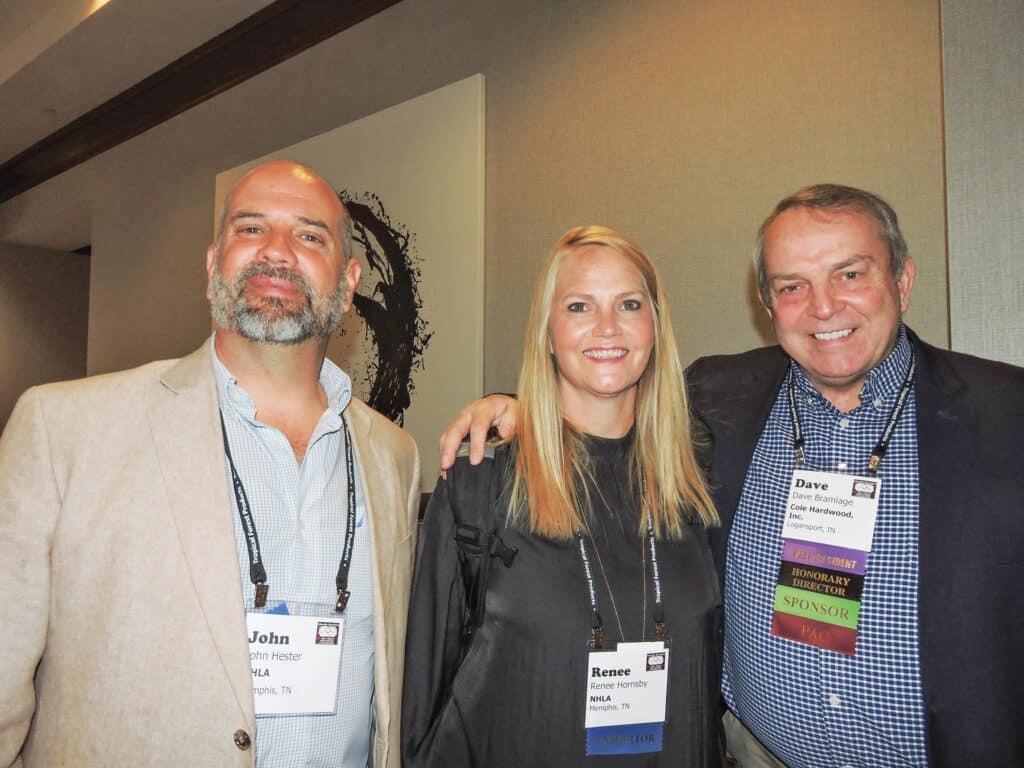 John Hester and Renee Hornsby, National Hardwood Lumber Association, Memphis, TN; and Dave Bramlage, Cole Hardwood Inc., Logansport, IN