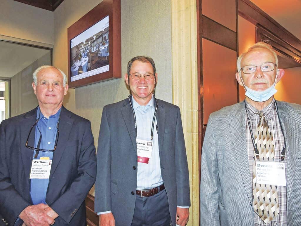 Bill Steele, Bitteroot Hardwoods & Dimension LLC, Sellersburg, IN; Shawn Leibering, Leibering Lumber & Logging Inc., Lamar, IN; and Dennis Carr, Mueller Brothers Timber, Old Monroe, MO