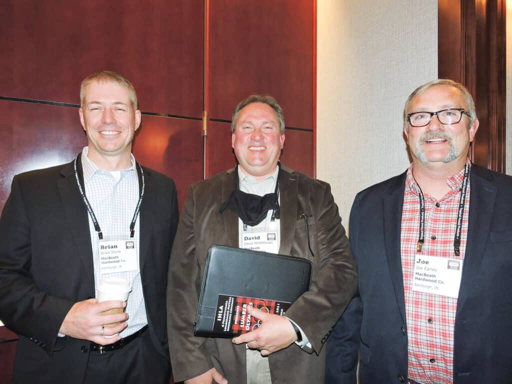 Brian Wynk, David Whitehouse and Joe Earley, MacBeath Hardwood Co., Edinburgh, IN