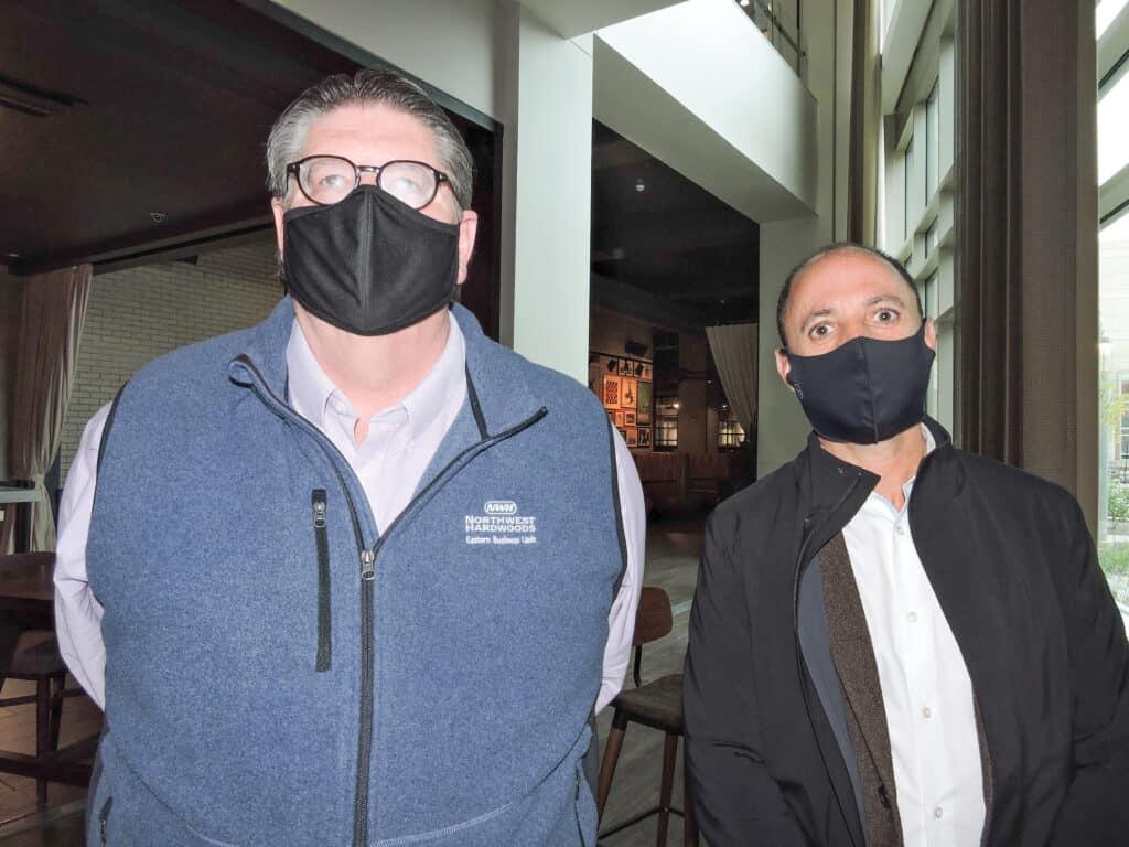 Ed Armbruster and Richard Uria, Northwest Hardwoods Inc., Beachwood, OH