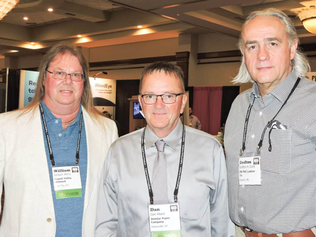 William Perry, Powell Valley Millwork LLC, Clay City, KY; Dan Allard, Domtar Paper Co., Hawesville, KY; and Grafton H. Cook, MO PAC Lumber Company, Fayette, MO
