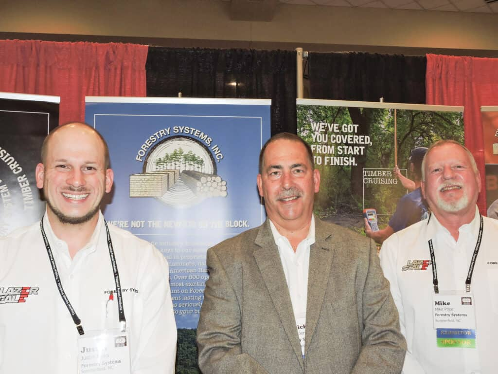 Justin Jenks, Patrick Jenks and Mike Price, Forestry Systems Inc., Summerfield, NC