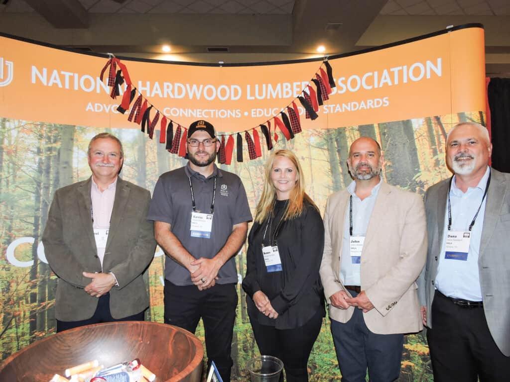 Paul Vance, C-Wood Lumber Co. Inc., Collinwood, TN; Kevin Evilsizer, Renee Hornsby, John Hester and Dana Spessert, NHLA, Memphis, TN