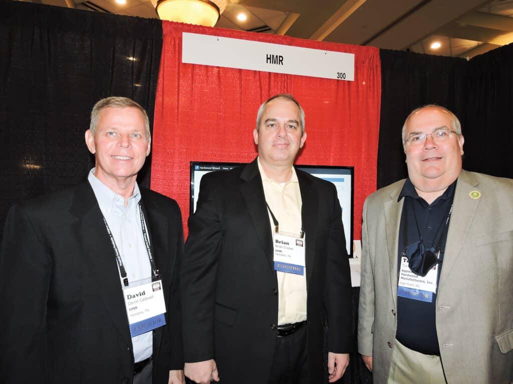 David Caldwell and Brian Cruzan, Hardwood Market Report, Memphis, TN; and Tom Inman, Appalachian Hardwood Manufacturers Inc., High Point, NC