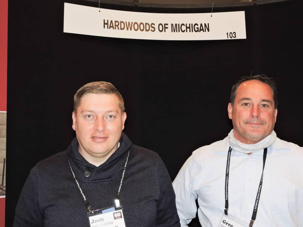 Josh Coblentz and Greg Clark, HMI Hardwoods LLC, Clinton, MI