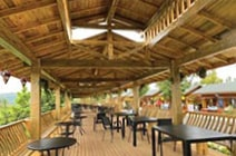 Southern Yellow Pine was used throughout the Luhu Resort to enhance the design and withstand insects and humidity.