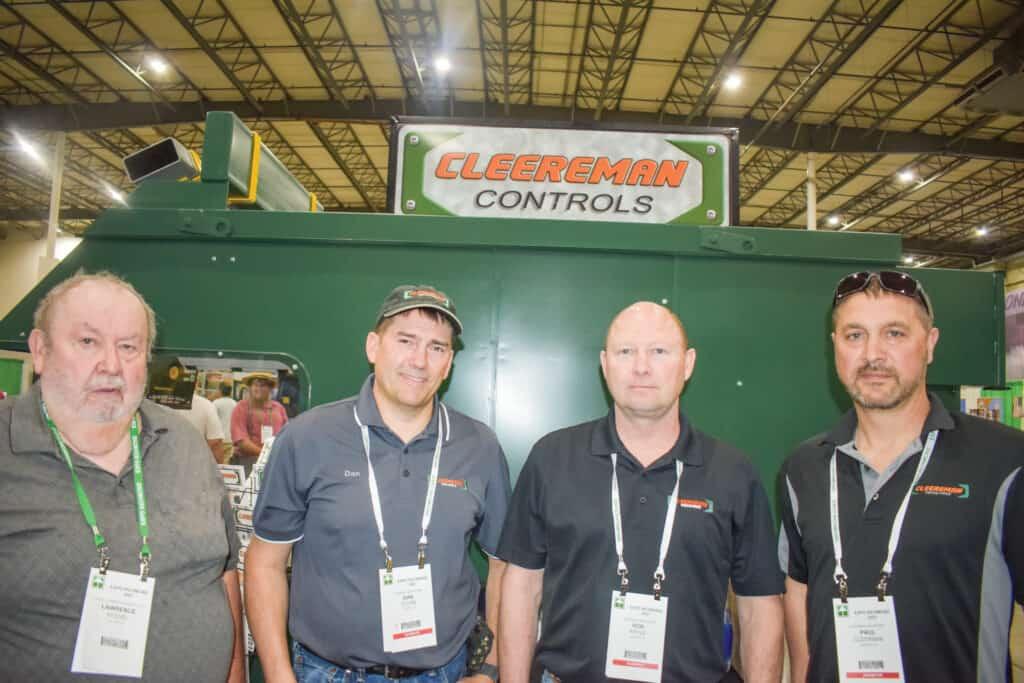 Lawrence Kessel, Kessel Lumber Products Inc., Keyser, WV; Dan Tooke, Cleereman Controls, Vancouver, WA; and Rob Kittle and Paul Cleereman, Cleereman Industries Inc., Newald, WI