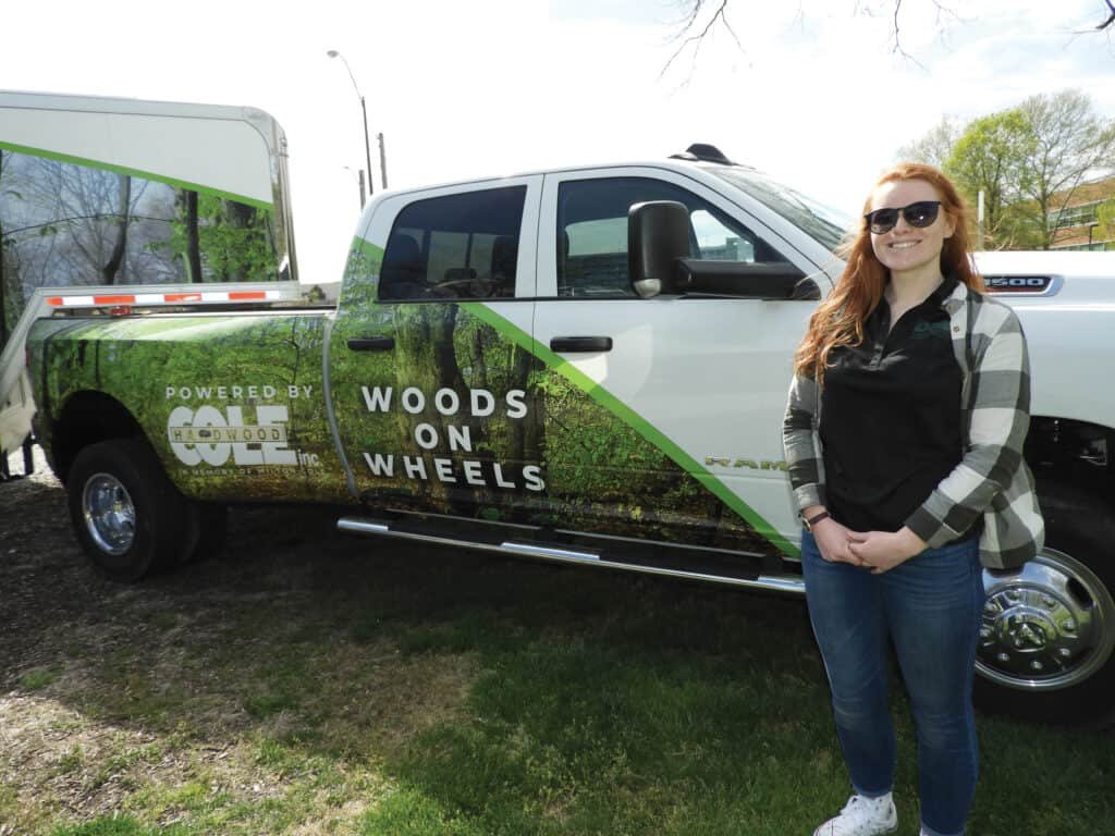 Operator Sara High of the Indiana DNR attends all of the Woods on Wheels events.