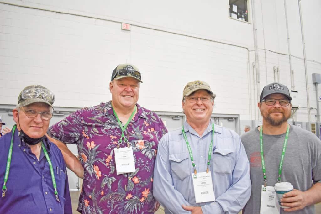 Tim Hammond, D.L. Martin Co., Hanover, PA; Dan Kwasniewski, Herb Kwasniewski and Sean Wing, JC Lumber Co., Elkins, WV