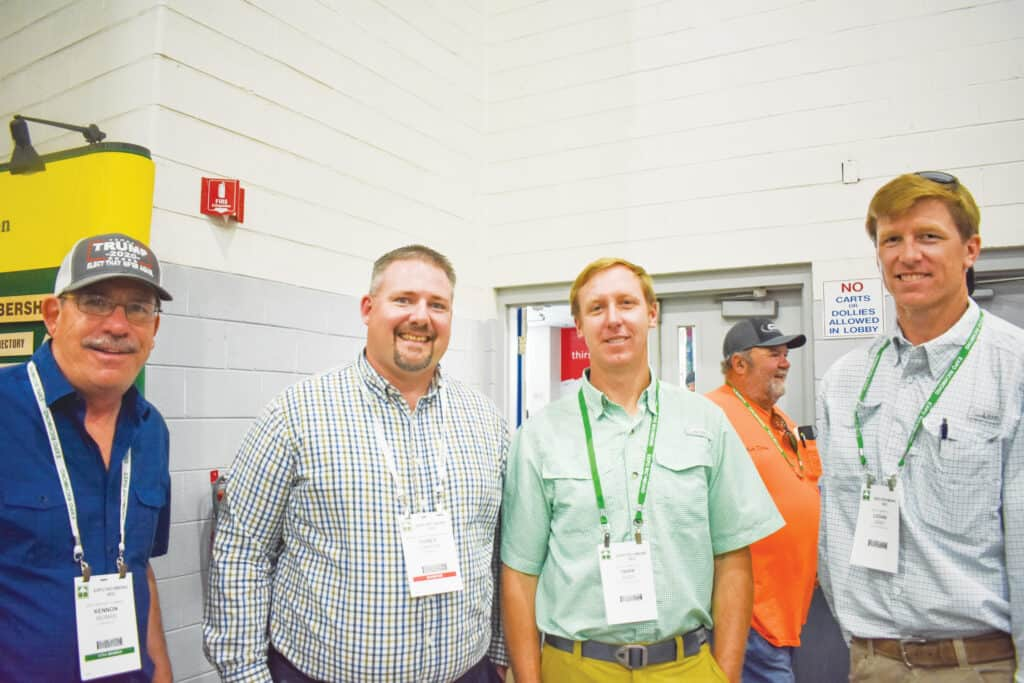 Kennon Morris, Northern Neck Lumber Co. Inc., Warsaw, VA; Corey Connors, Virginia Forestry Association, Richmond, VA; and Tripp Josey and Logan Josey, Josey Lumber Co. Inc., Scotland Neck, NC