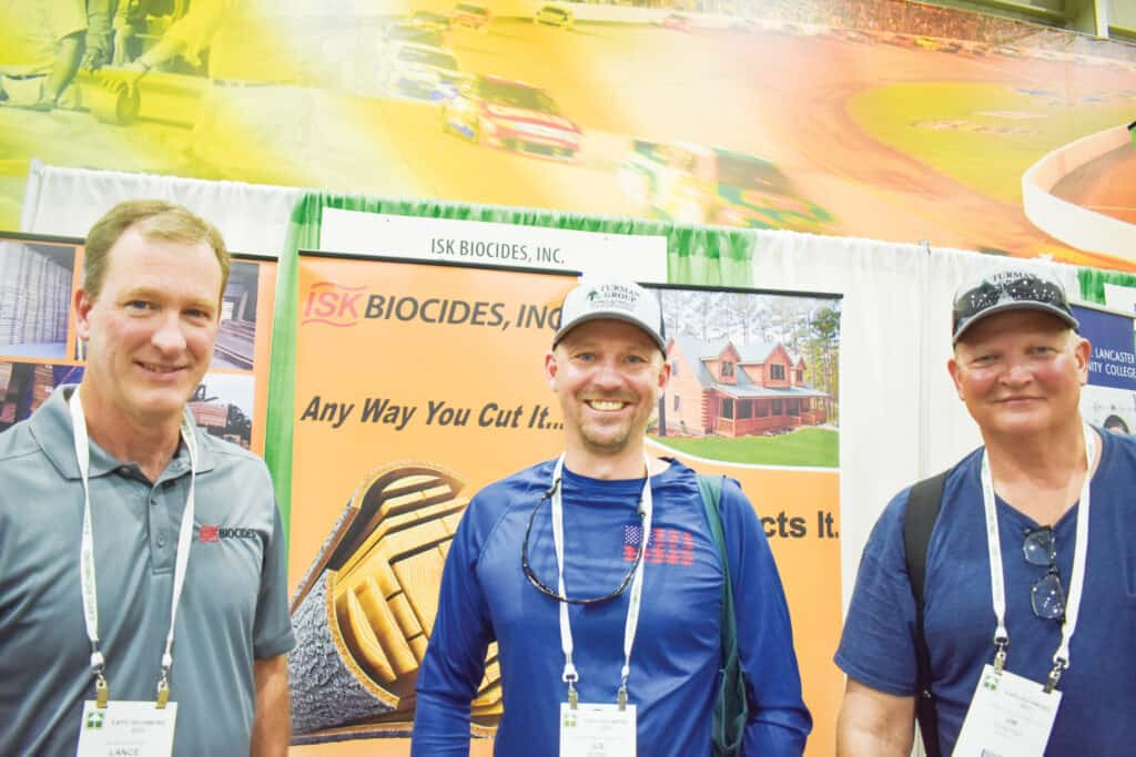 Lance Johnson, ISK Biocides Inc., Memphis, TN; and Joshua Bond and Jim Dobyns, Turman Forest Products Inc., Bedford, VA