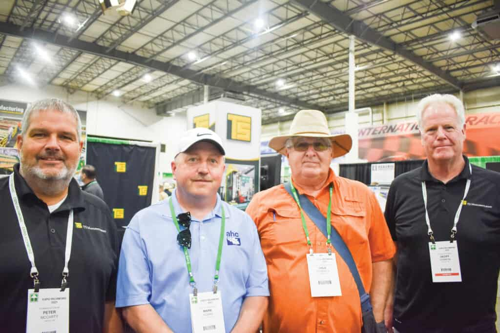 Peter McCarty, TS Manufacturing, Dover-Foxcroft, ME; Mark Young, AHC Hardwood Group, Crystal Spring, PA; Dale McNeilly, Custom Sawmill, Savannah, NY; and Geoff Gannon, TS Manufacturing, Plymouth, NH