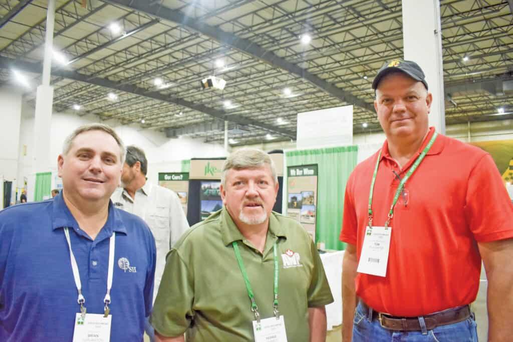 Brian Turlington, SII Dry Kilns, Lexington, NC; Herbie Daniels, Allegheny Wood Products Inc., Riverton, WV; and Tom Plaugher, Allegheny Wood Products Inc., Petersburg, WV