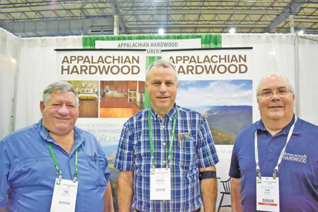 Tom Sheets, Blue Ridge Lumber Co. LLC, Fishersville, VA; Andrew Clough, Woodworking Mill, Mineral, VA; and Tom Inman, Appalachian Hardwood Manufacturers Inc., High Point, NC