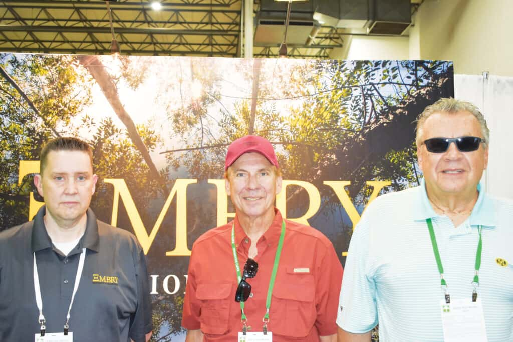 Jason Sears, Embry Automation Controls, Evansville, IN; and John Stirrup and David Stirrup, O-IV Cooperage & Stave Mill, Haymarket, VA