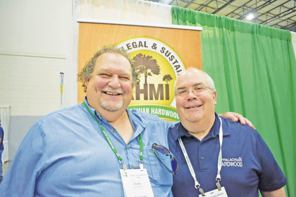 Penn Cooper, Spec Wood and Marketing Solutions Inc., Quebec City, QC; and Tom Inman, Appalachian Hardwood Manufacturers Inc., High Point, NC