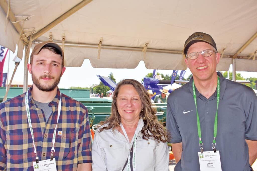 Hayes Mellott and Stacy Mellott, Mellott Manufacturing Co. Inc., Mercersburg, PA; and Chris Clark, A.D. Bowman & Son Lumber Co. Inc., Castle Creek, NY