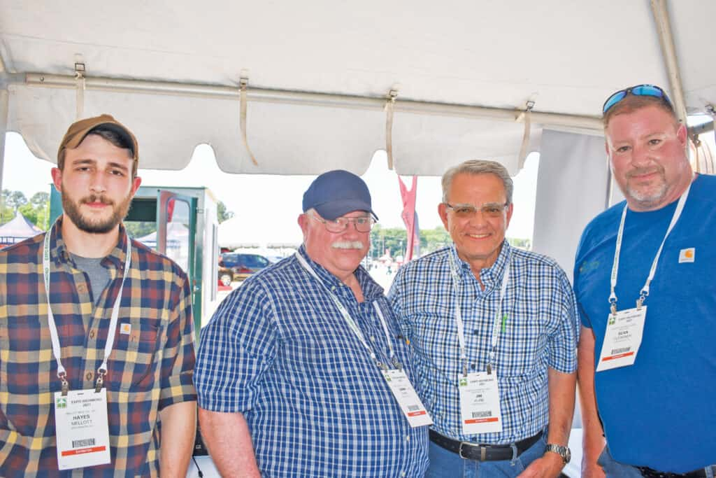 Hayes Mellott and Carl Park, Mellott Manufacturing Co. Inc., Mercersburg, PA; and Jim Kline and Sean Glessner, Kline's Equipment & Mill Supplies Inc., Duncansville, PA