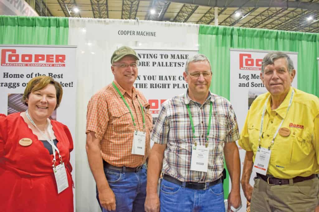 Frances Cooper, Cooper Machine Co. Inc., Wadley, GA; Bryan High, Virginia Timber LLC, Elkton, VA; Mark Musser, Skyline Post & Pole LLC, Louisa, VA; and Robert Cooper, Cooper Machine Co. Inc.