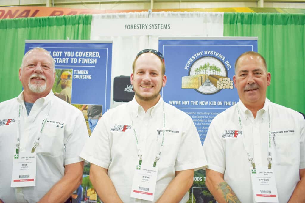 Mike Price, Justin Jenks and Patrick Jenks, Forestry Systems Inc., Summerfield, NC