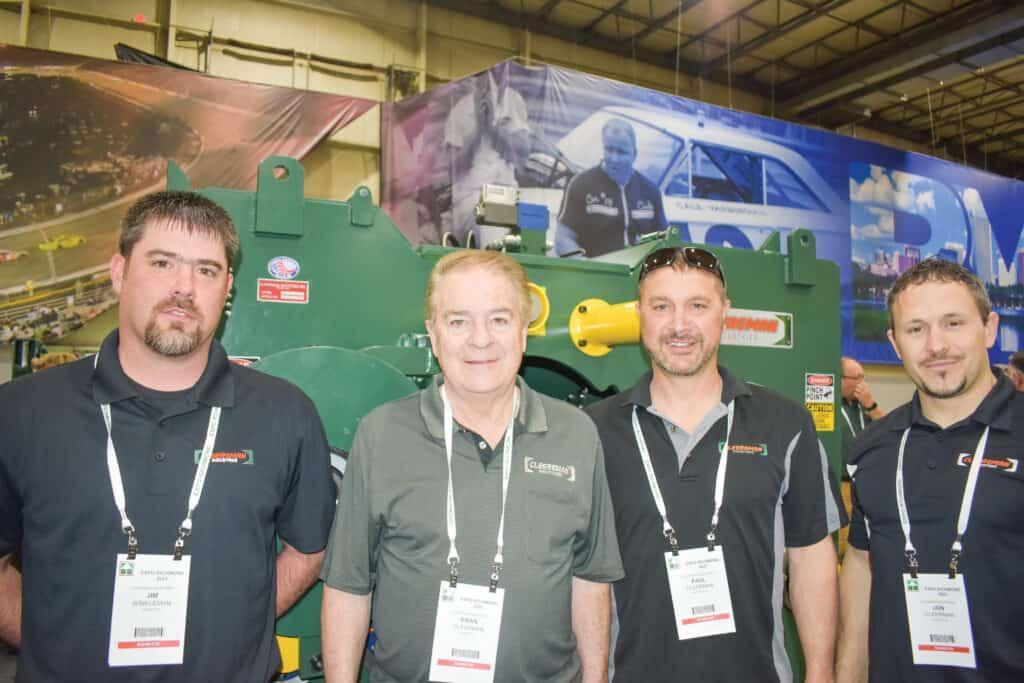 Jim Winkelman, Fran Cleereman, Paul Cleereman and Jon Cleereman, Cleereman Industries Inc., Newald, WI