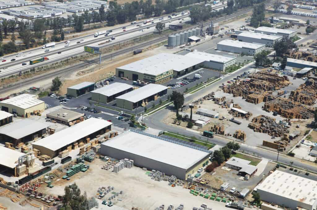 Peterman Lumber Inc. operates three facilities. The corporate location in Fontana, CA encompasses 14.4 acres with 80,000 square feet under cover and 40,000 square feet of open shed space. In Las Vegas, NV, the company operates an 80,000-square-foot distribution and storage center along with a 40,000-square-foot additional distribution center in Phoenix, AZ, which also has 10,000 square feet of laminating and storage space.