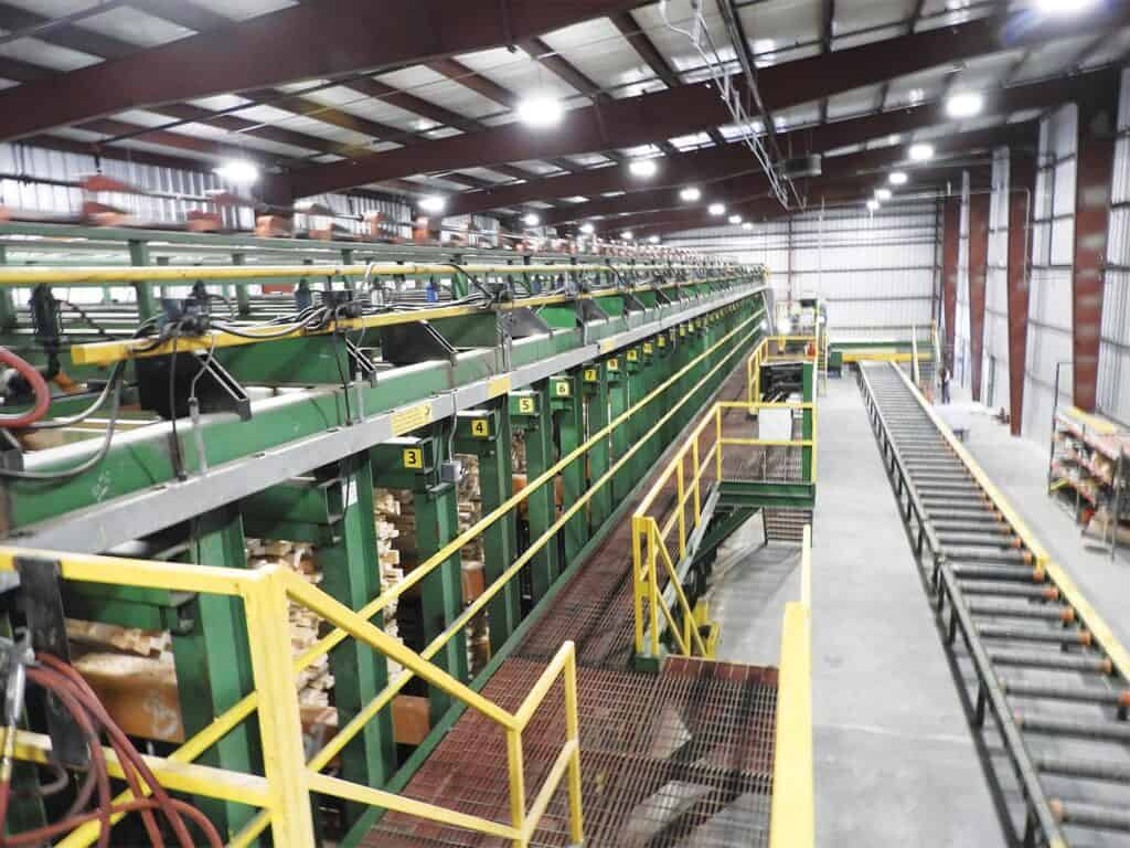 The bin sorter at Thompson River Lumber is fine-tuned to work very efficiently.