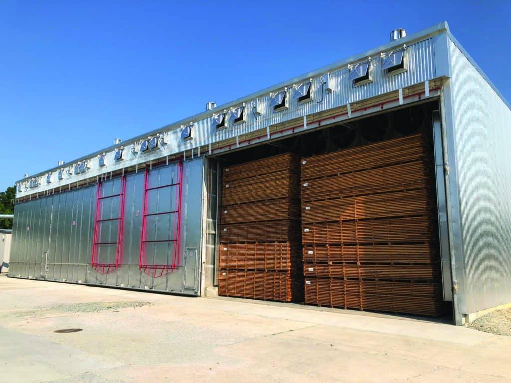 Y&Y Hardwoods in Thomasville, NC has four Package Kilns.