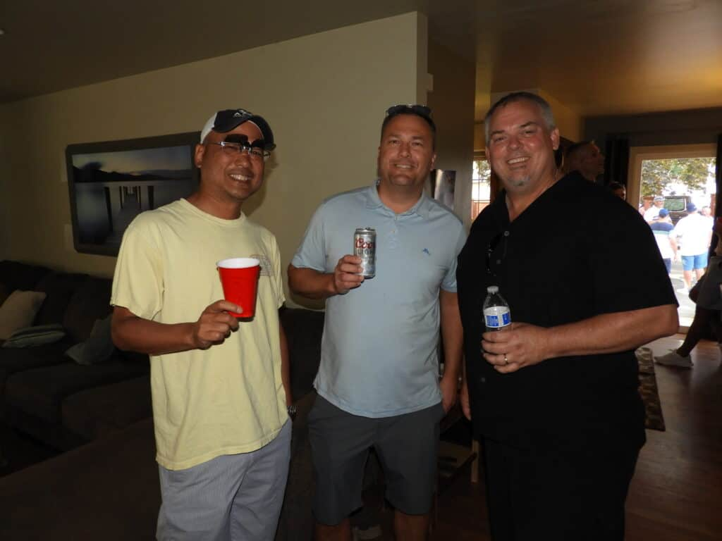 Kobe Yamamoto, Alta Forest Products, Chehalis, WA; Joe Currier, Dakota Fence, Fargo, ND; and Dave Cochenour, Alta Forest Products