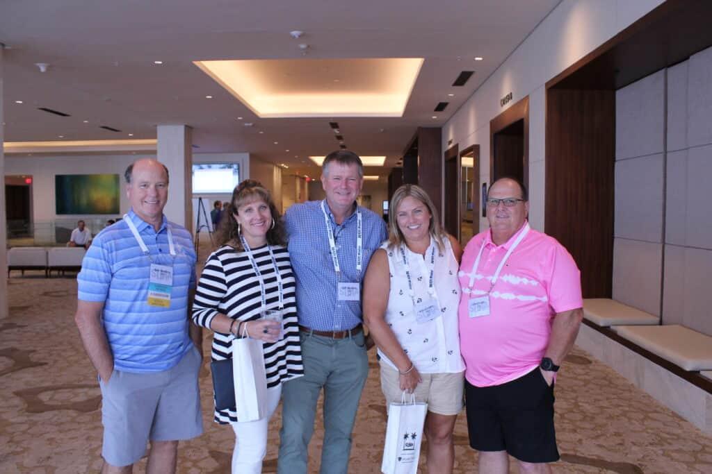 Alan Robbins, USNR, Jacksonville, FL; Cindy and Jeff Stephens, Karen Smith and Chad Smith, USNR, Hot Springs, AR