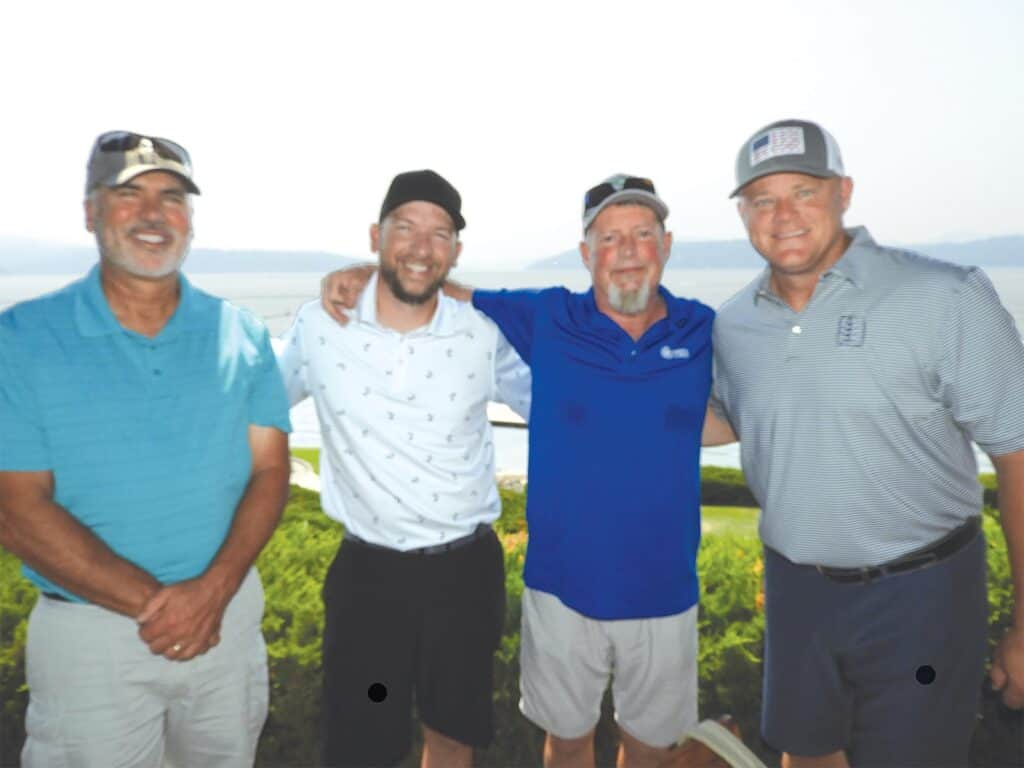 Chuck Beagle, Cedar Products Unlimited, Missoula, MT; Stefan McGuire and Rick Shoemaker, Hampton Lumber, Portland, OR; and Chad Eastin, UFP Industries, Windsor, CO