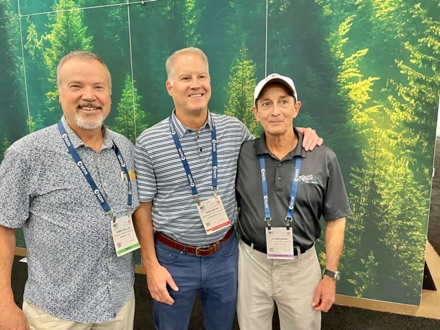 Terry Miller, The Softwood Forest Products Buyer, Memphis, TN; Kris Palin, Allegheny Wood Products Inc., Petersburg, WV; and Ed Mikowski, Mount Storm Forest Products Inc., Windsor, CA