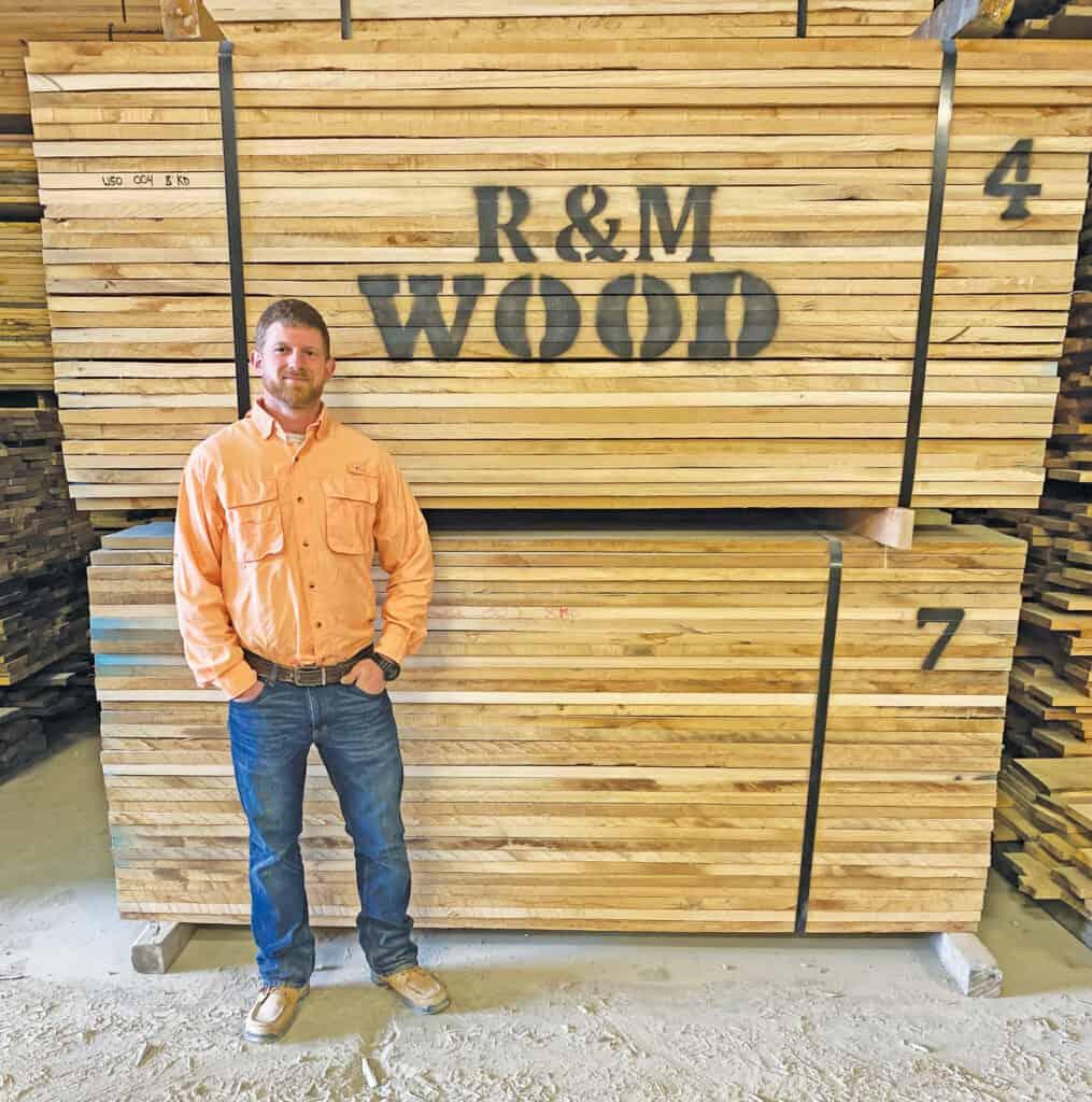 Thomas Rhodes, R&M Wood's yard foreman and sales associate.