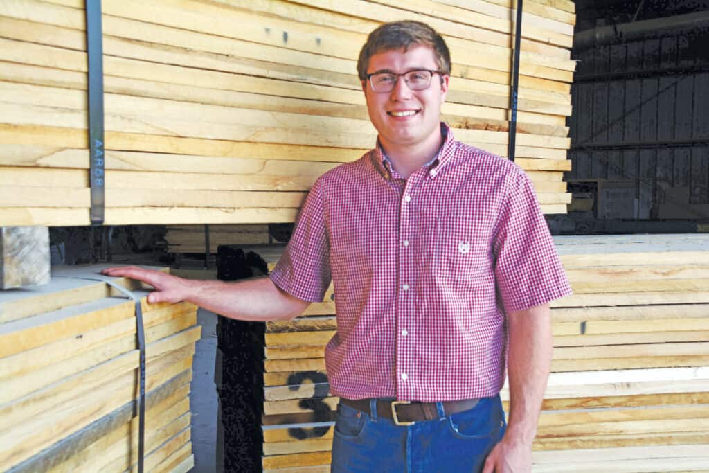 Seth Moore, R&M's procurement manager and lumber inspector.
