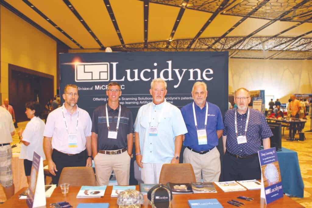 Marcus Trisdale, Lucidyne Technologies Inc., Corvallis, OR; Mason Talley, Arbor Tech Forest Products Inc., Blackstone, VA; Doug Tinsley, Tinsley Consulting Group LLC, Hot Springs, AR; Chris Cournyer, Lucidyne Technologies Inc., Corvallis, OR; and John Rhea, Lucidyne Technologies Inc., Bossier City, LA